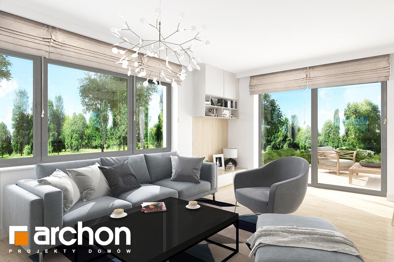 Проект дома ARCHON+ Дом в мирте 5 дневная зона (визуализация 1 вид 3)