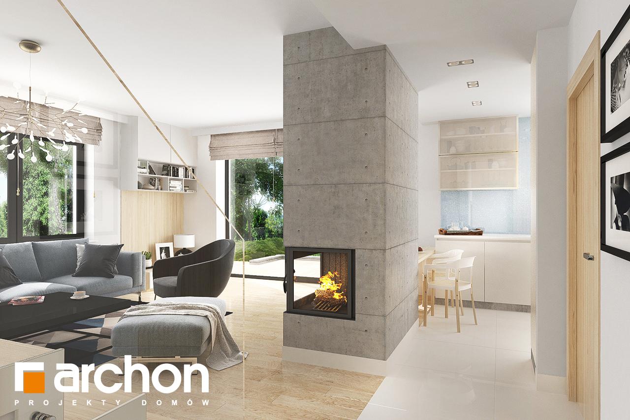 Проект дома ARCHON+ Дом в мирте 5 дневная зона (визуализация 1 вид 5)