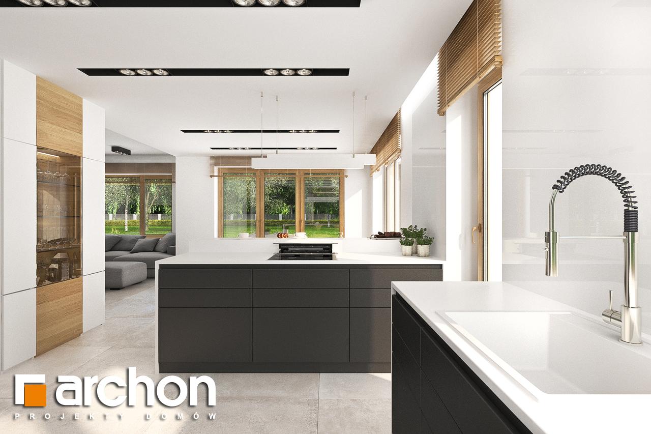 Проект будинку ARCHON+ Будинок в аурорах 5 візуалізація кухні 1 від 1