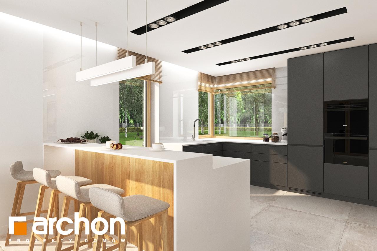 Проект будинку ARCHON+ Будинок в аурорах 5 візуалізація кухні 1 від 2