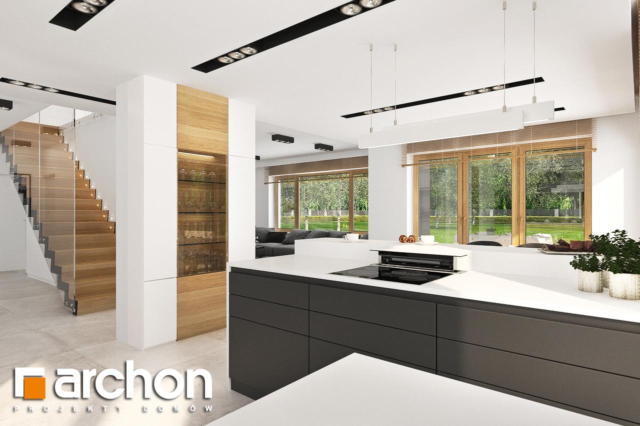 Проект будинку ARCHON+ Будинок в аурорах 5 візуалізація кухні 1 від 3