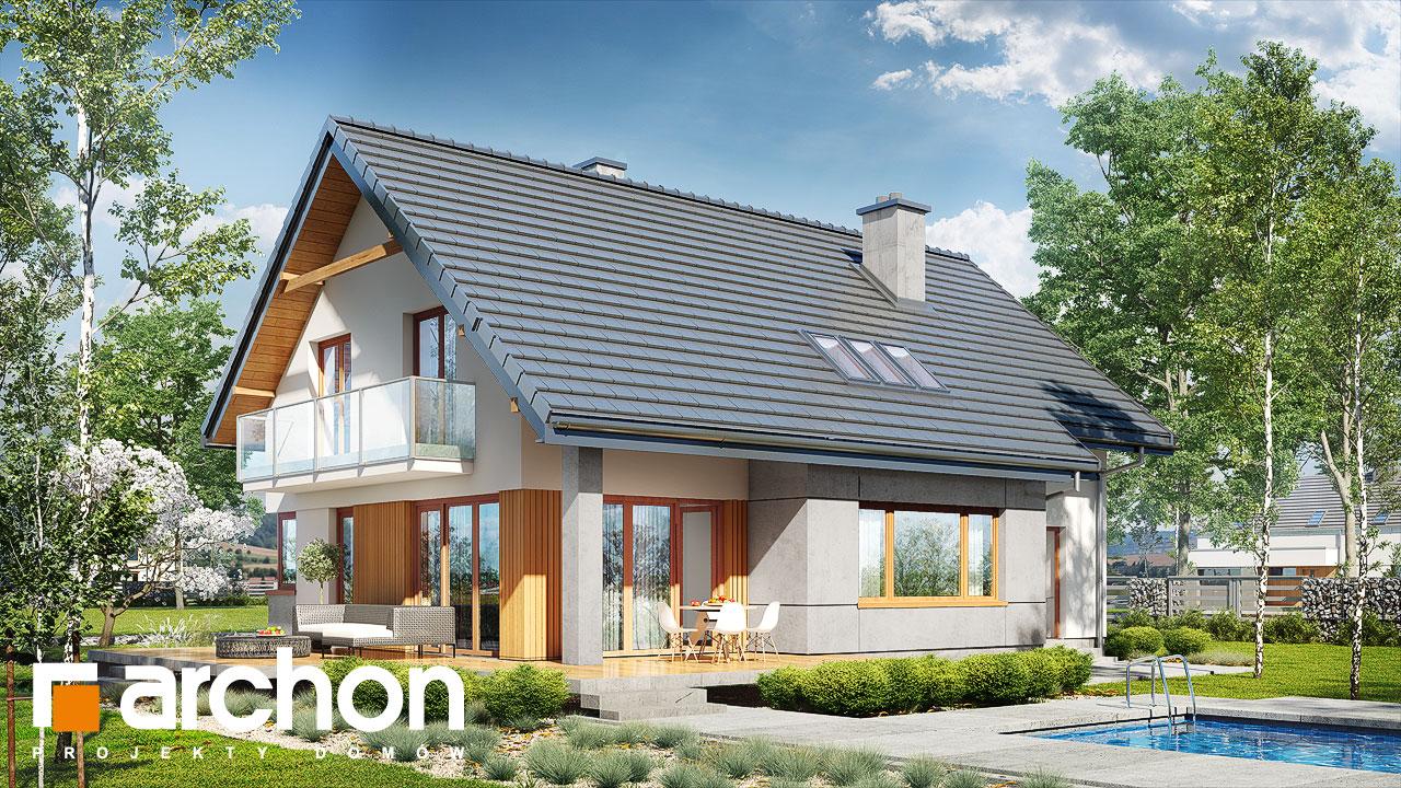 Проект будинку ARCHON+ Будинок в аурорах 5 Вид 2