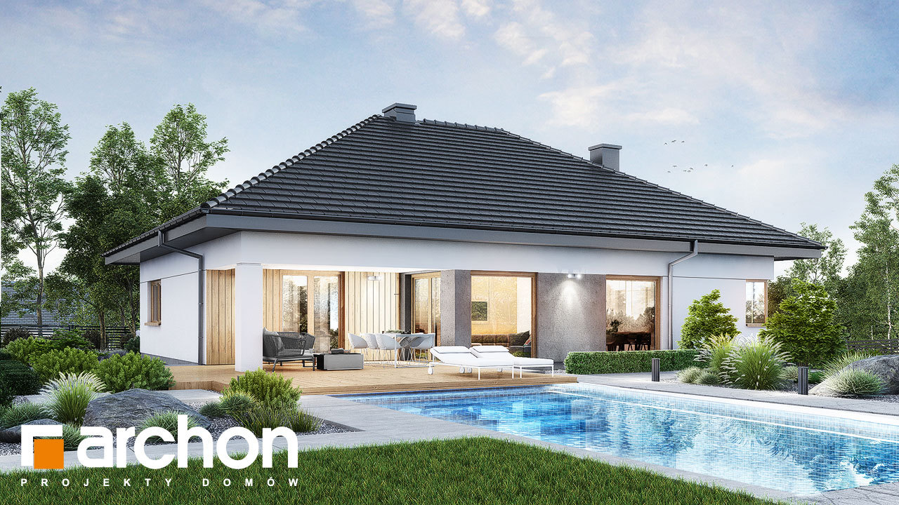 Проект будинку ARCHON+ Будинок в ренклодах 17