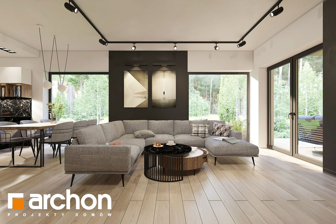 Проект будинку ARCHON+ Будинок в ренклодах 17 денна зона (візуалізація 1 від 2)