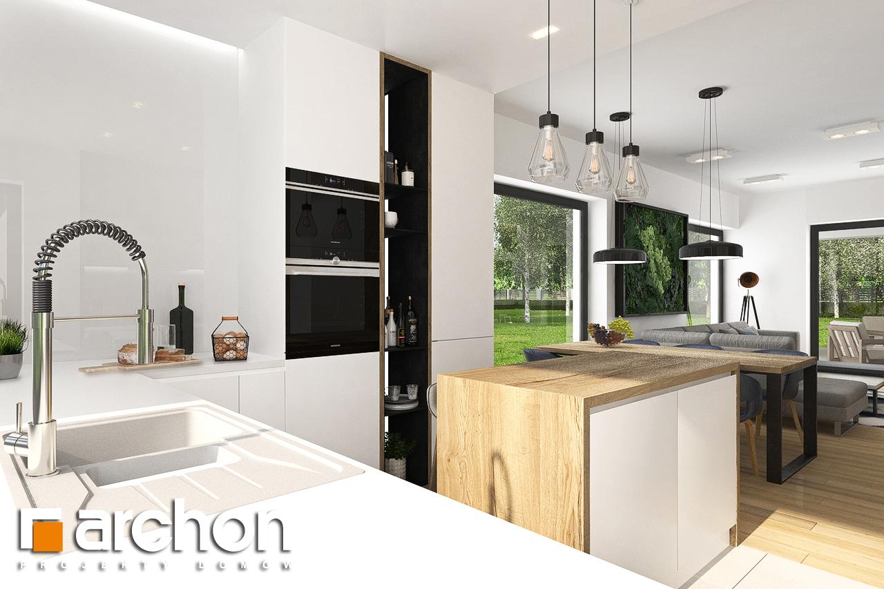 Проект будинку ARCHON+ Будинок в хакетіях 3 візуалізація кухні 1 від 2