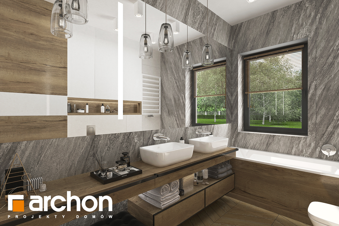 Проект будинку ARCHON+ Будинок в хакетіях 3 візуалізація ванни (візуалізація 3 від 1)