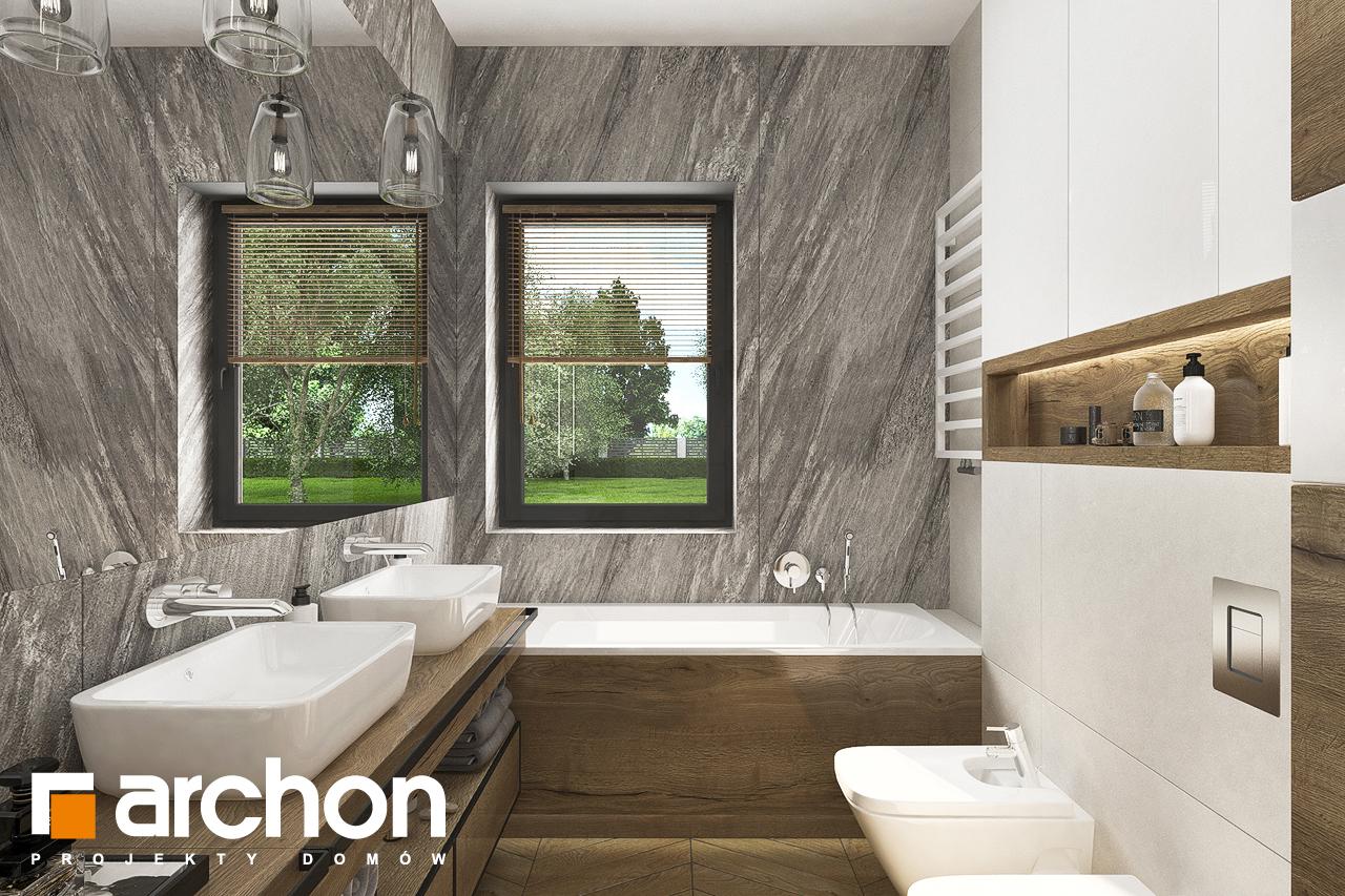 Проект будинку ARCHON+ Будинок в хакетіях 3 візуалізація ванни (візуалізація 3 від 2)