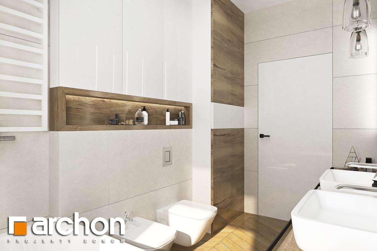 Проект будинку ARCHON+ Будинок в хакетіях 3 візуалізація ванни (візуалізація 3 від 3)