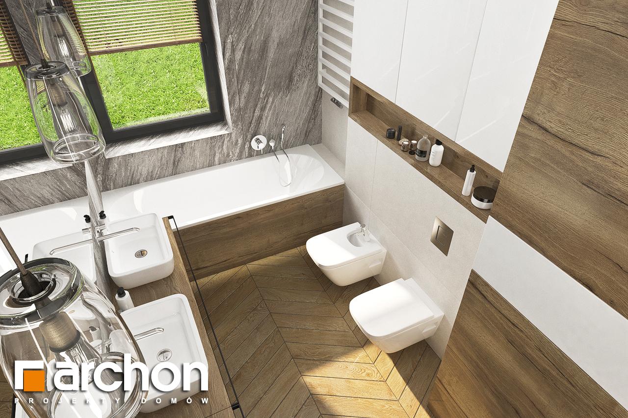 Проект будинку ARCHON+ Будинок в хакетіях 3 візуалізація ванни (візуалізація 3 від 4)