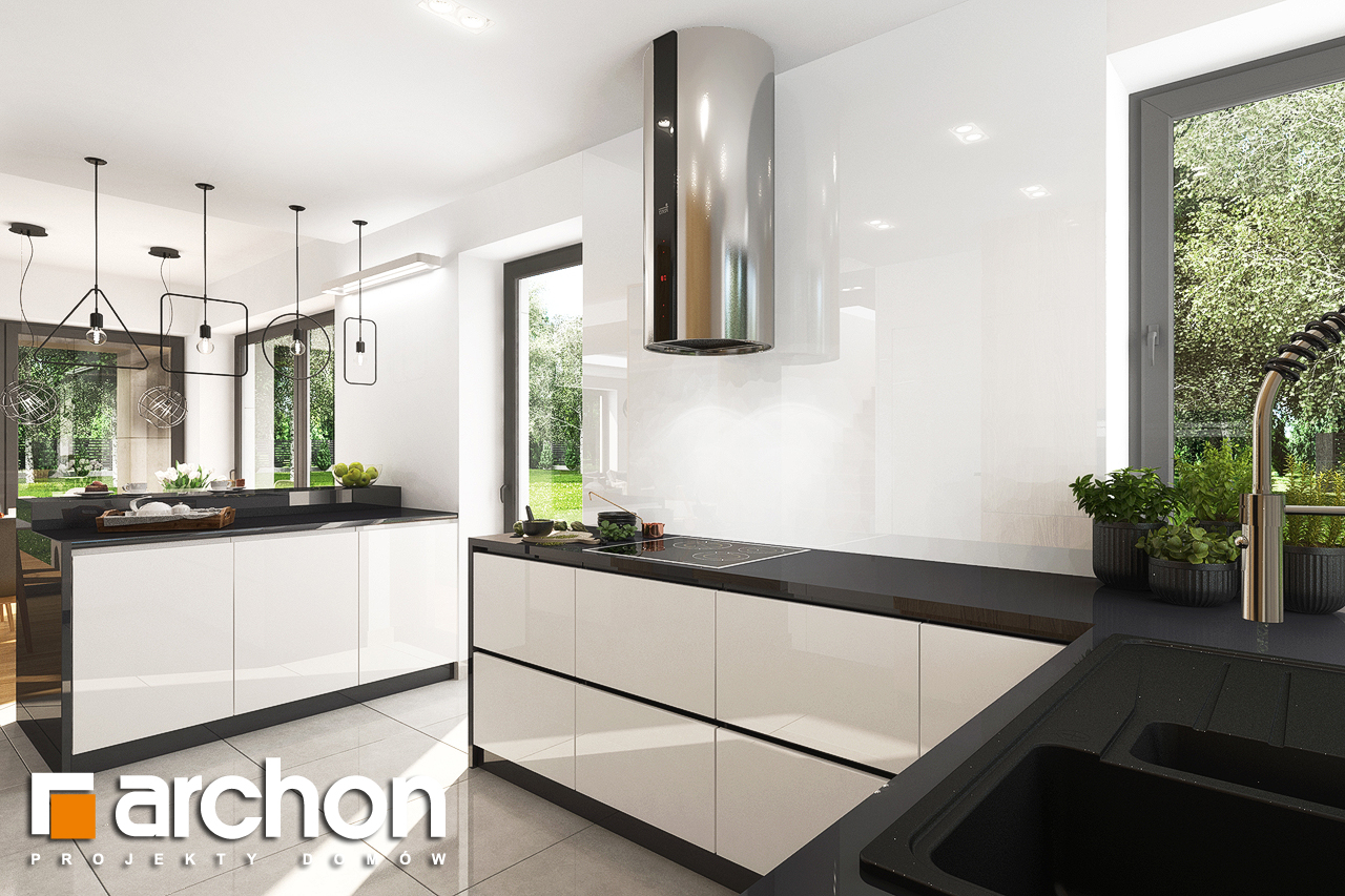 Проект будинку ARCHON+ Будинок в орлішках (Г2) візуалізація кухні 1 від 3
