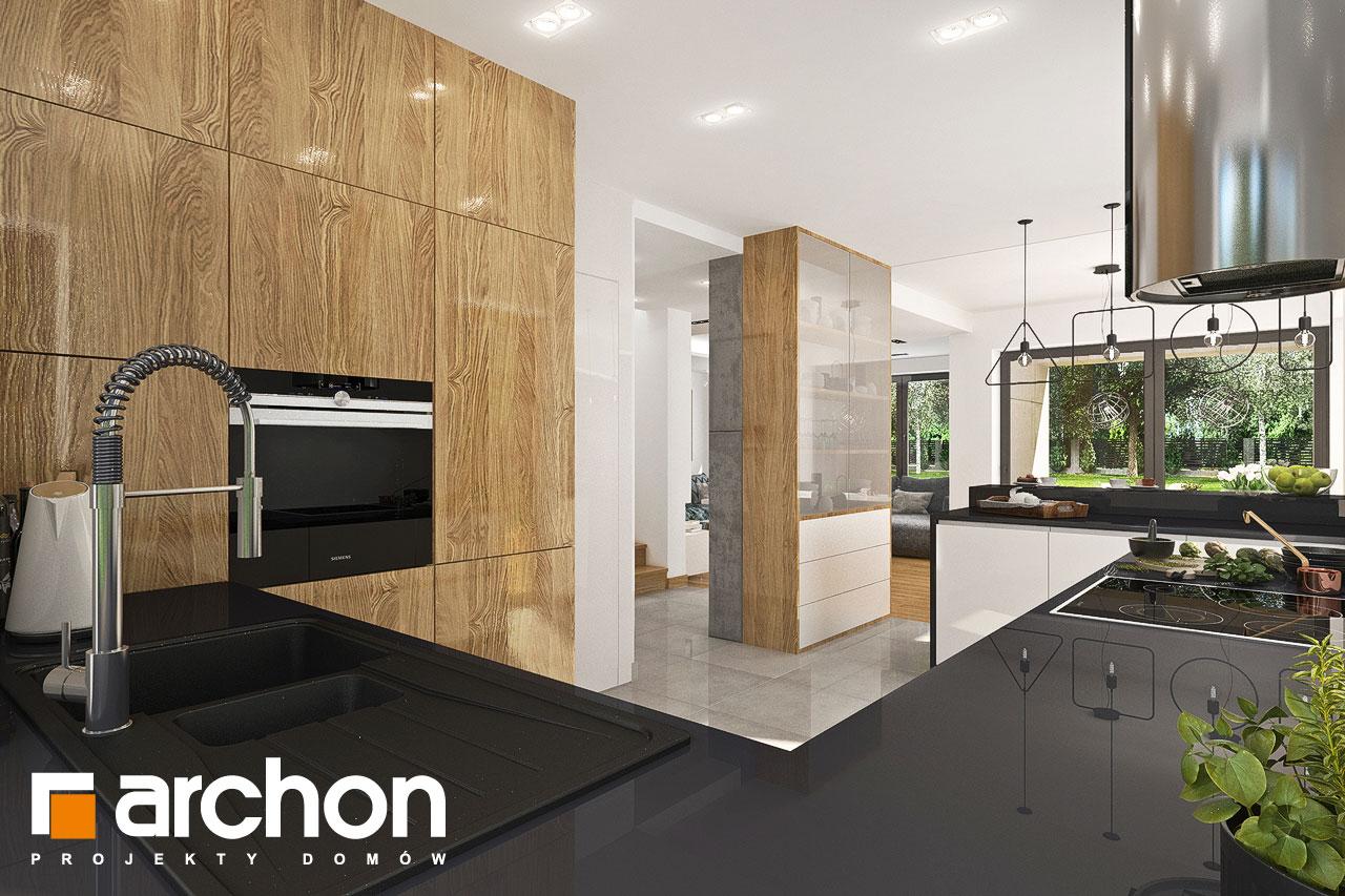 Проект дома ARCHON+ Дом в орлишках (Г2) визуализация кухни 1 вид 2
