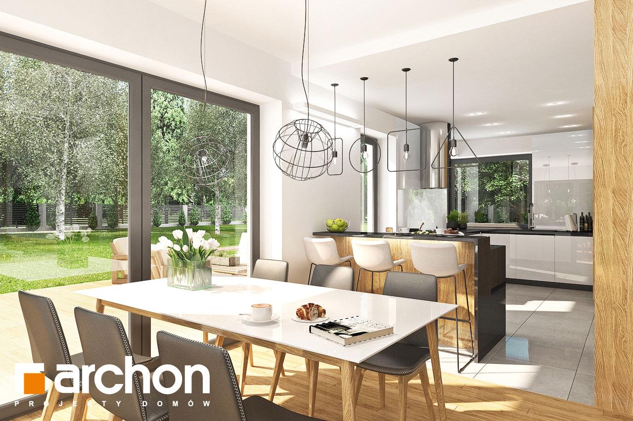 Проект дома ARCHON+ Дом в орлишках (Г2) визуализация кухни 1 вид 4