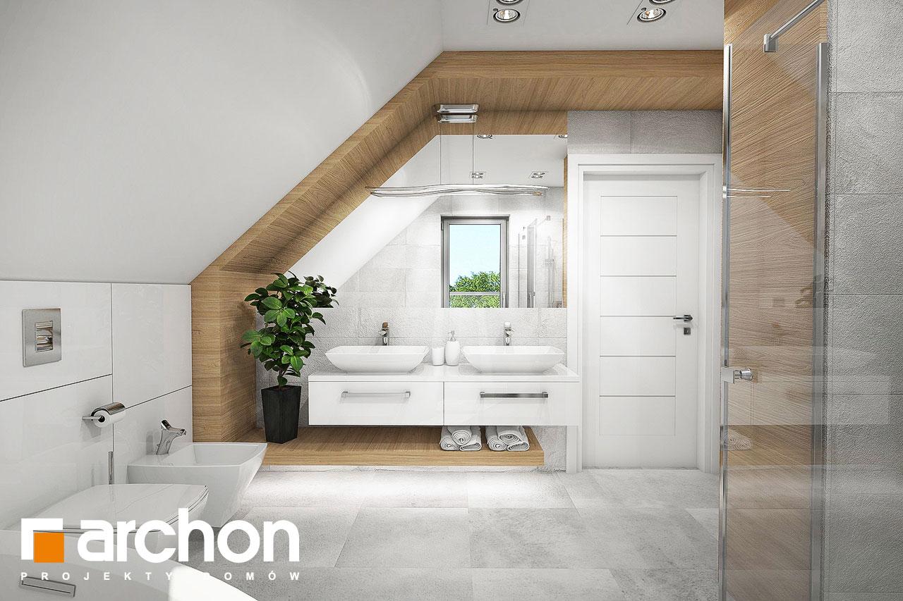 Проект дома ARCHON+ Дом в орлишках (Г2) визуализация ванной (визуализация 3 вид 2)