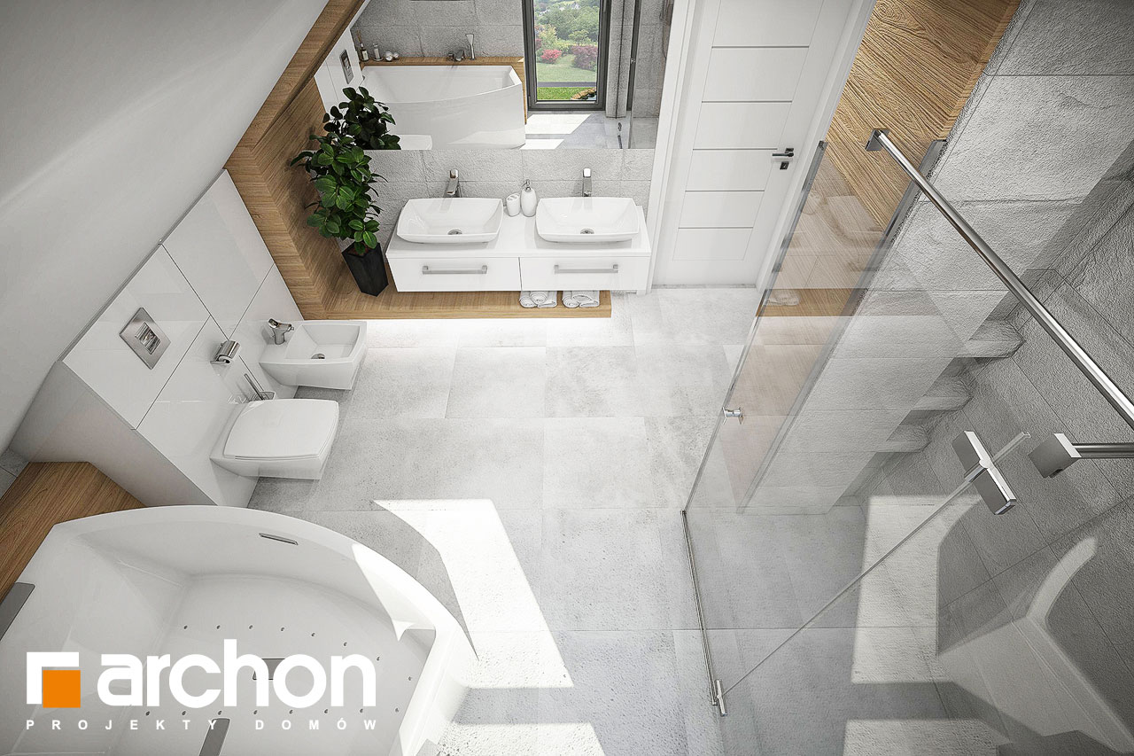 Проект дома ARCHON+ Дом в орлишках (Г2) визуализация ванной (визуализация 3 вид 5)