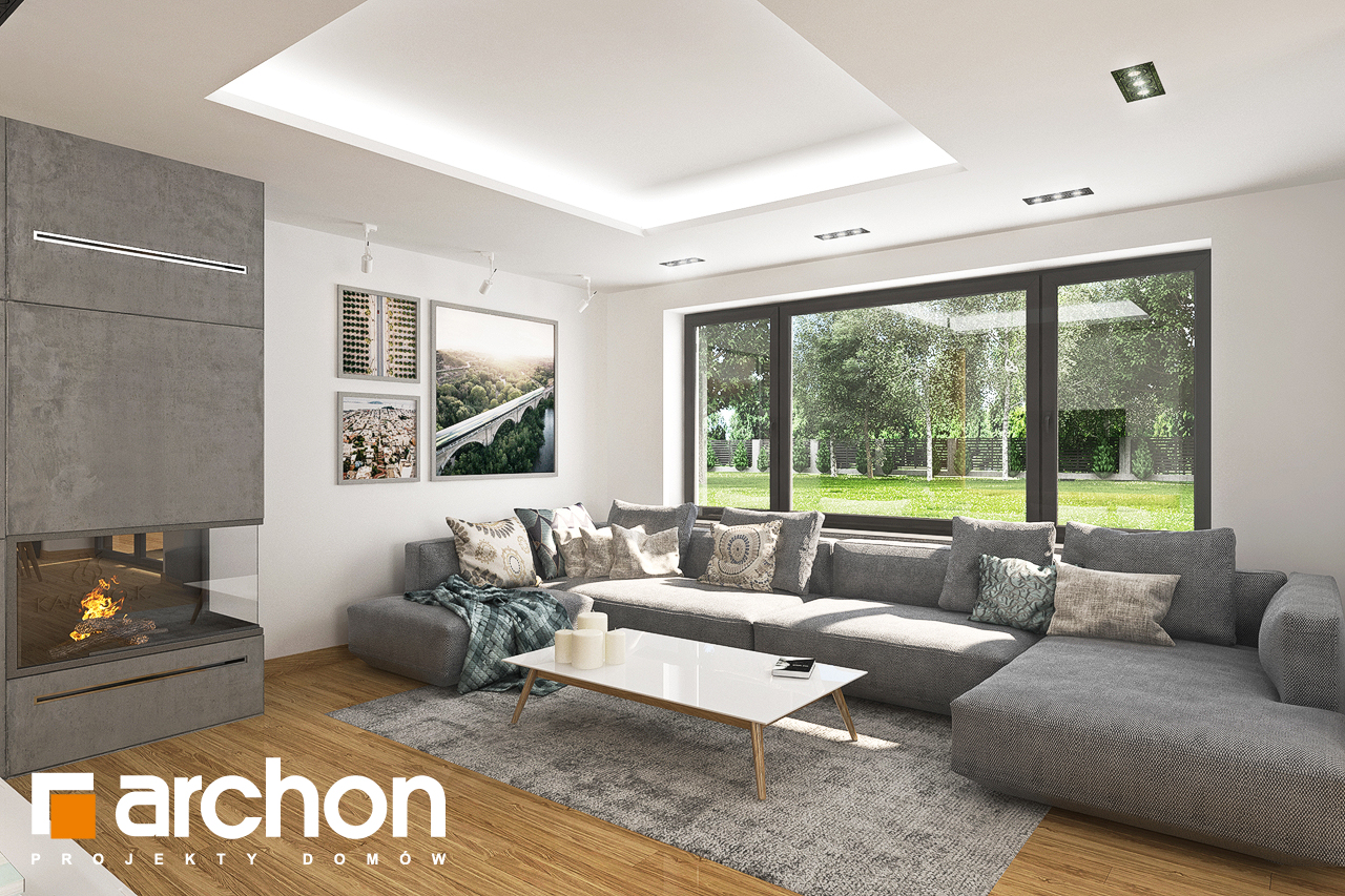 Проект будинку ARCHON+ Будинок в орлішках (Г2) денна зона (візуалізація 1 від 1)