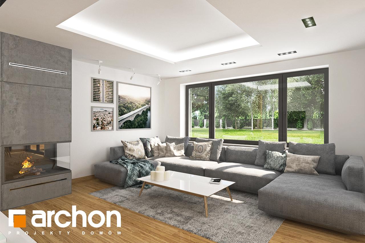 Проект дома ARCHON+ Дом в орлишках (Г2) дневная зона (визуализация 1 вид 1)