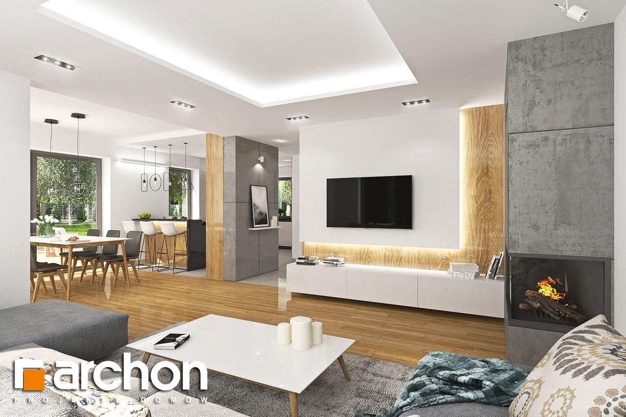 Проект дома ARCHON+ Дом в орлишках (Г2) дневная зона (визуализация 1 вид 2)