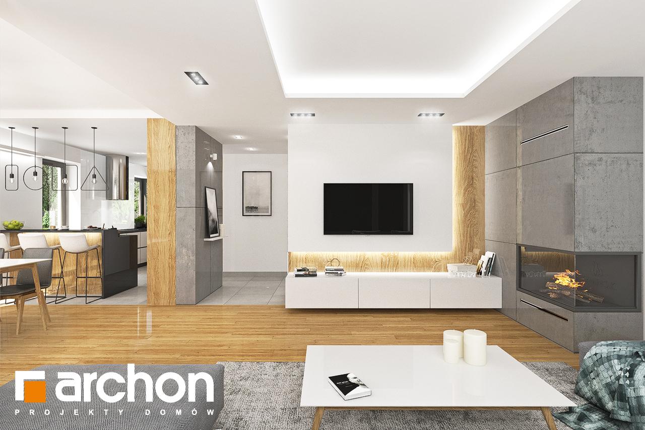 Проект дома ARCHON+ Дом в орлишках (Г2) дневная зона (визуализация 1 вид 3)
