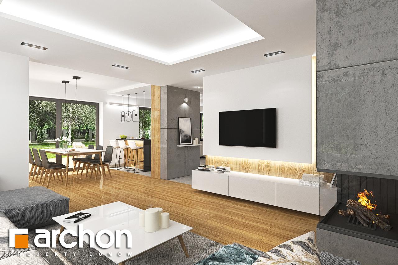 Проект дома ARCHON+ Дом в орлишках (Г2) дневная зона (визуализация 1 вид 4)