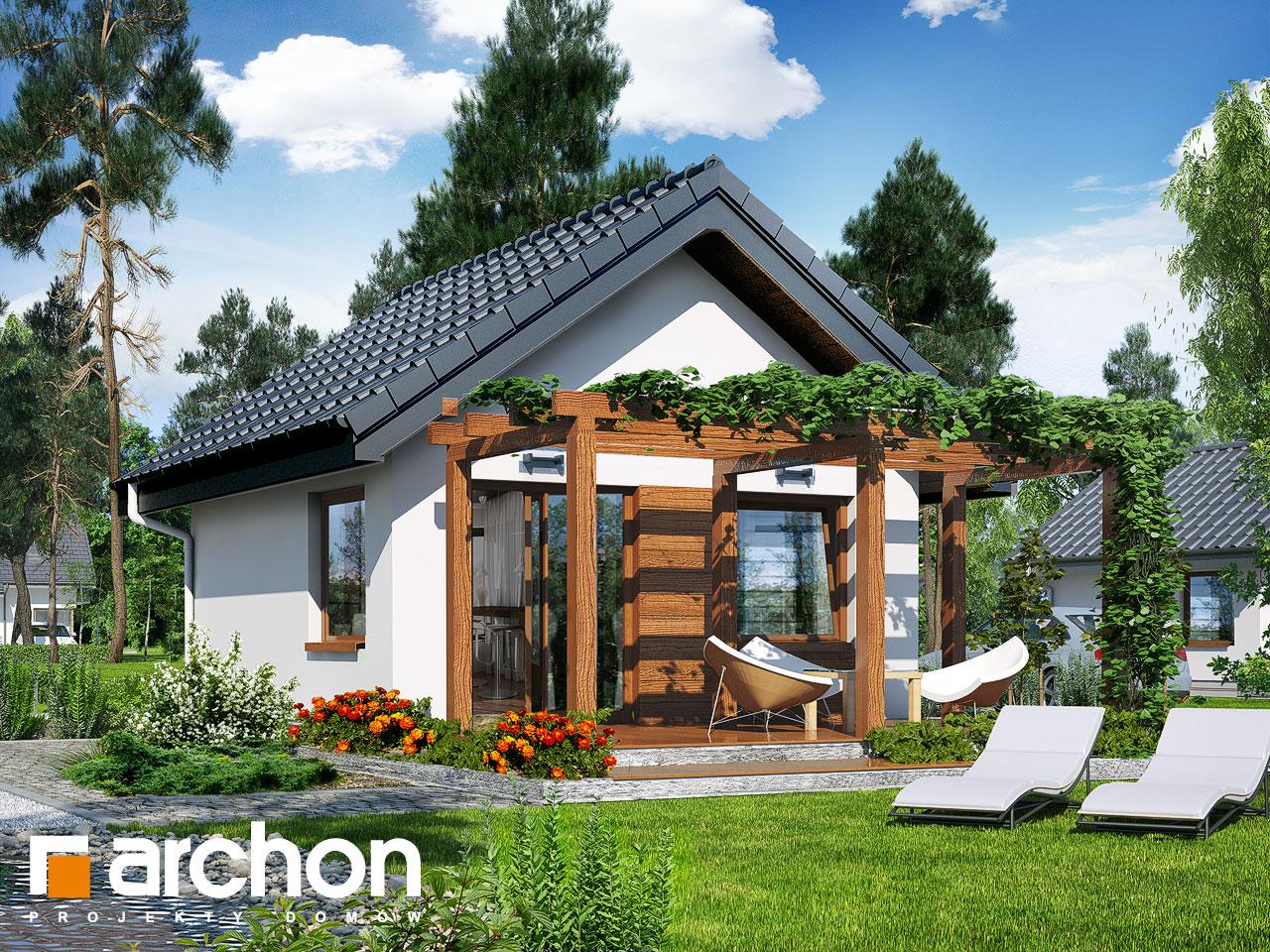 Проект дома ARCHON+ Летний домик в крокусах 2 Вид 2