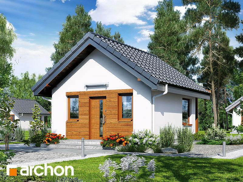 Проект дома ARCHON+ Летний домик в крокусах 2 Вид 1