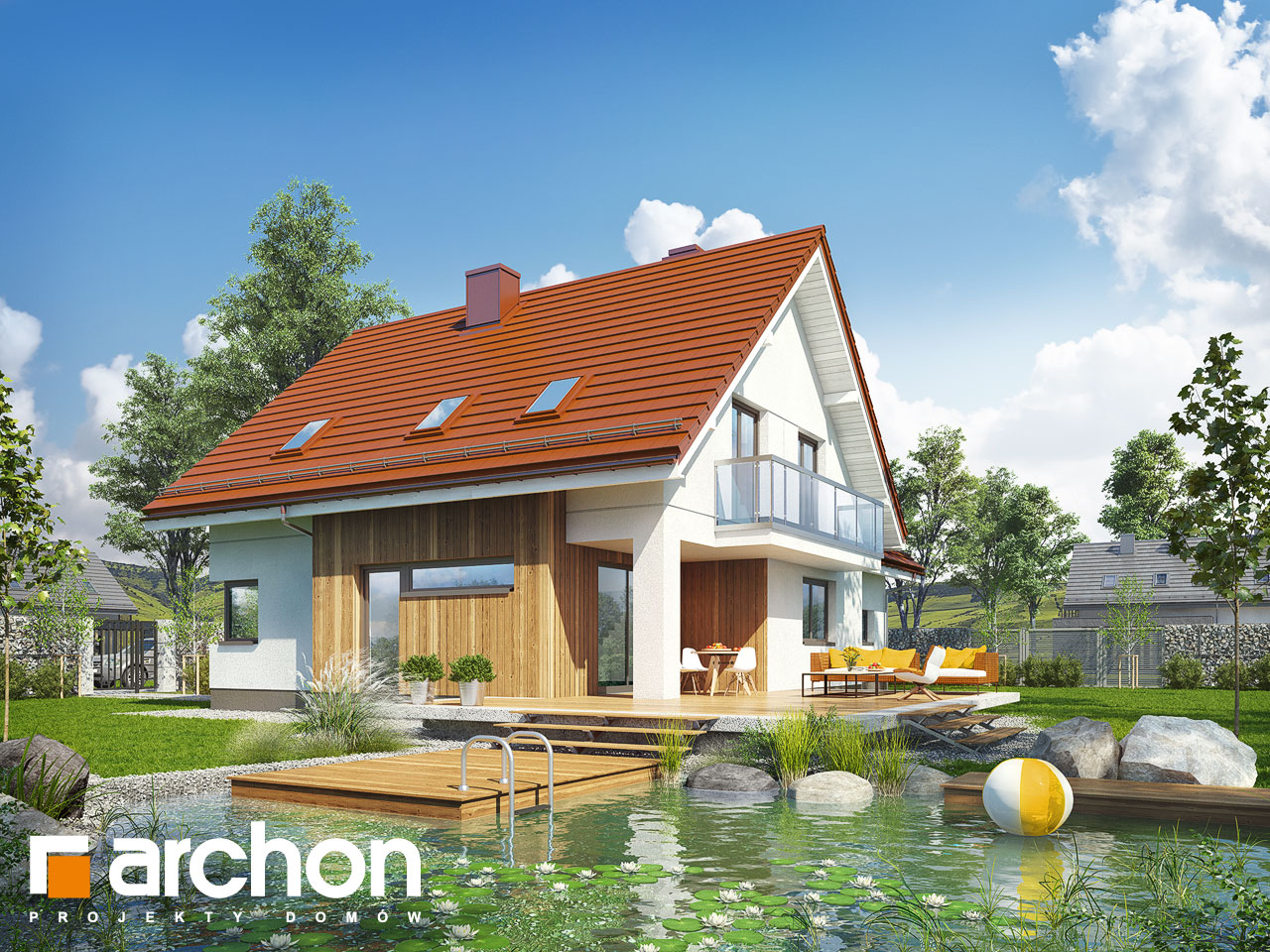Проект будинку ARCHON+ Будинок у клосовцях Вид 2