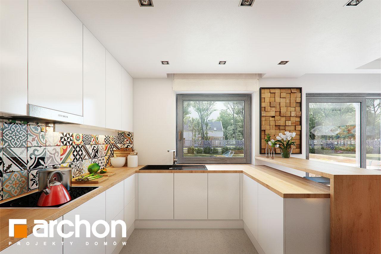 Проект будинку ARCHON+ Будинок в ліголях візуалізація кухні 1 від 1