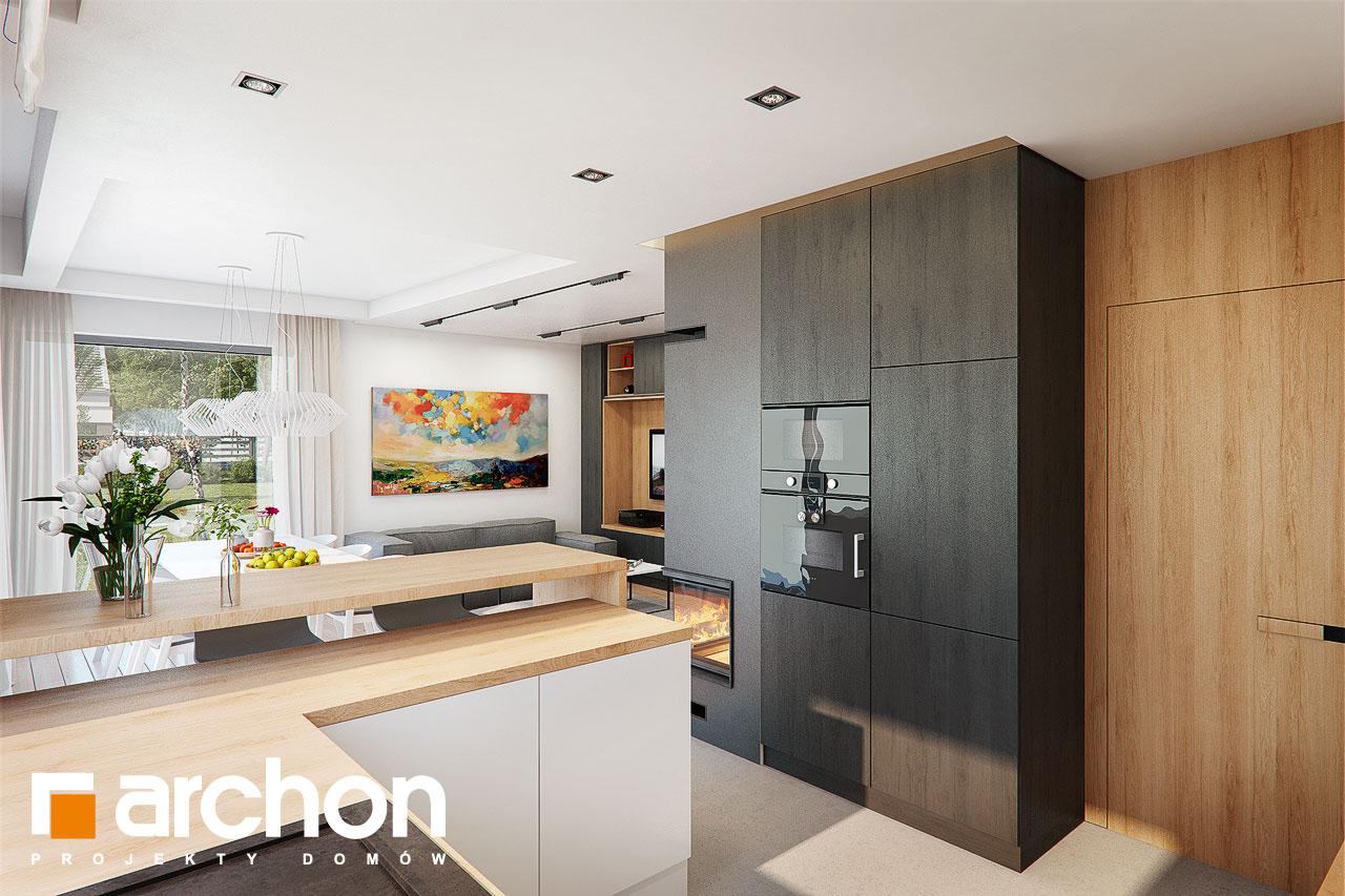 Проект будинку ARCHON+ Будинок в ліголях візуалізація кухні 1 від 2