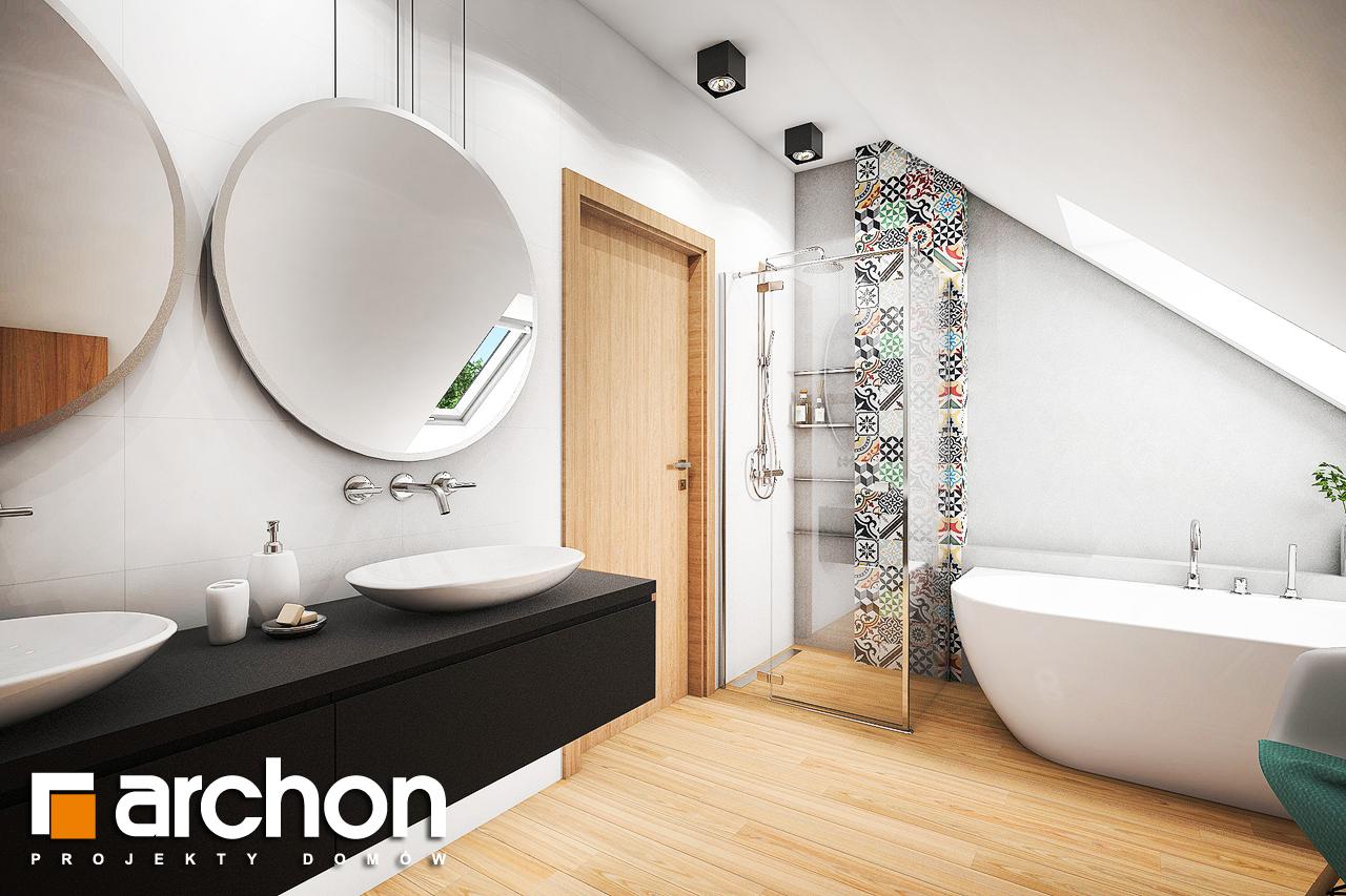 Проект будинку ARCHON+ Будинок в ліголях візуалізація ванни (візуалізація 3 від 1)