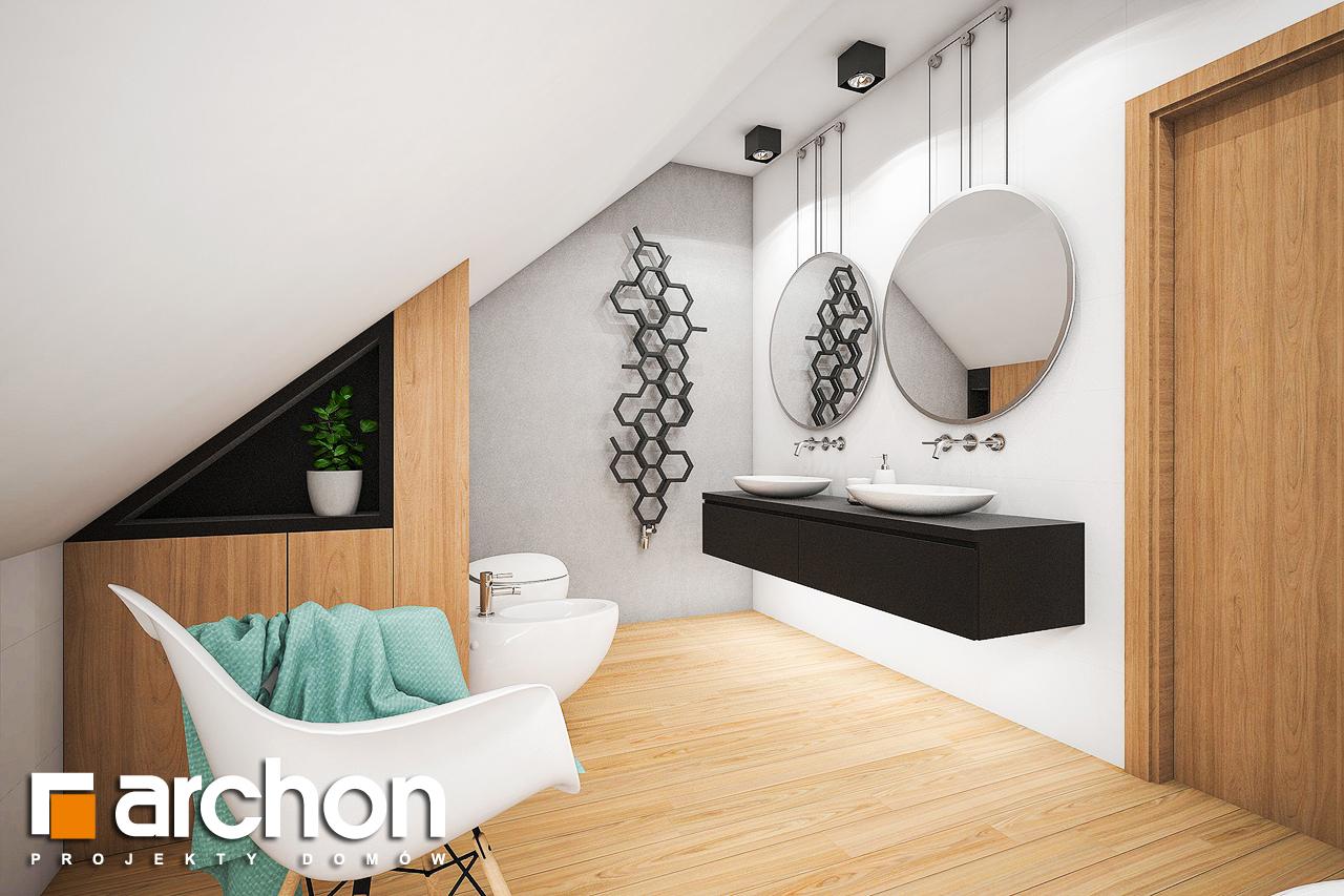 Проект будинку ARCHON+ Будинок в ліголях візуалізація ванни (візуалізація 3 від 2)