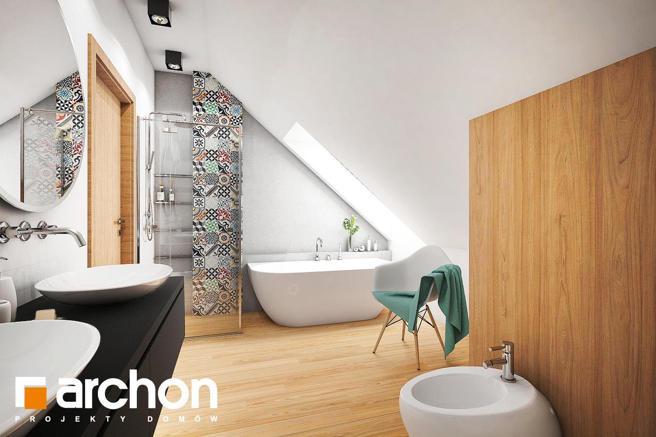 Проект будинку ARCHON+ Будинок в ліголях візуалізація ванни (візуалізація 3 від 3)