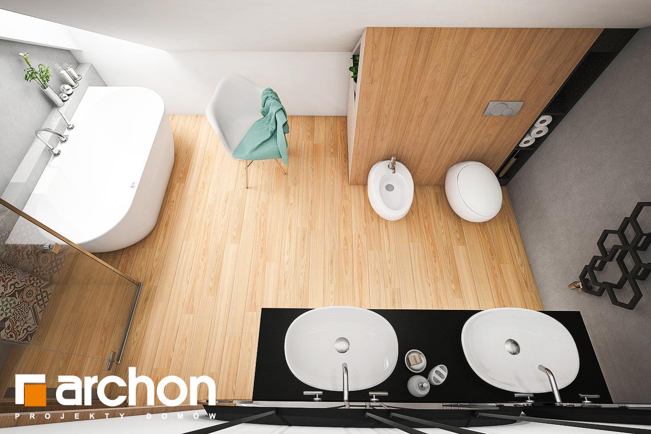 Проект будинку ARCHON+ Будинок в ліголях візуалізація ванни (візуалізація 3 від 4)