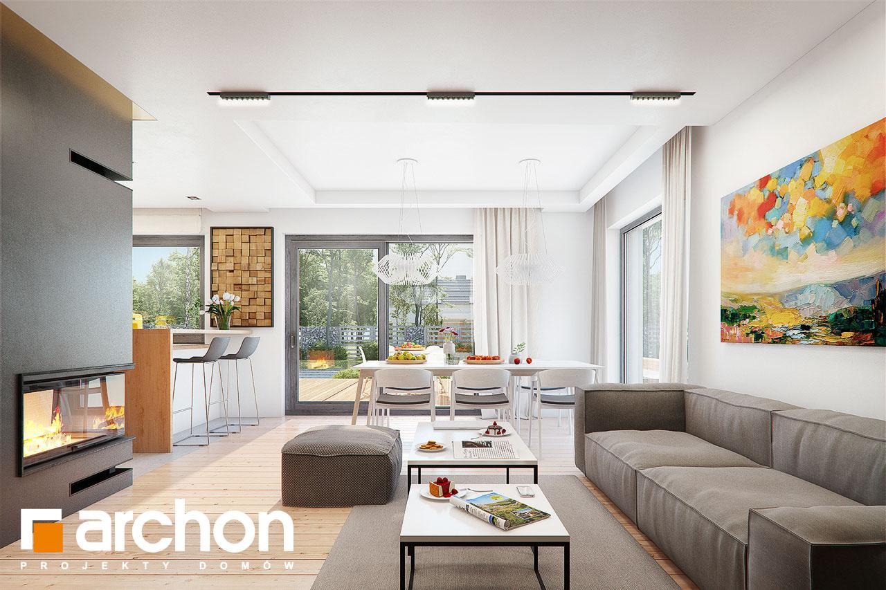 Проект будинку ARCHON+ Будинок в ліголях денна зона (візуалізація 1 від 3)