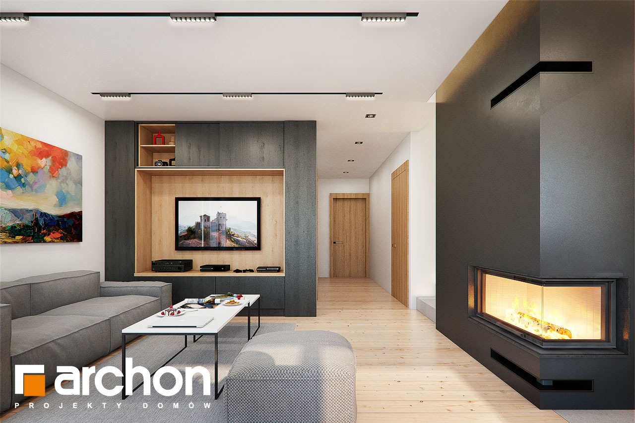 Проект будинку ARCHON+ Будинок в ліголях денна зона (візуалізація 1 від 4)