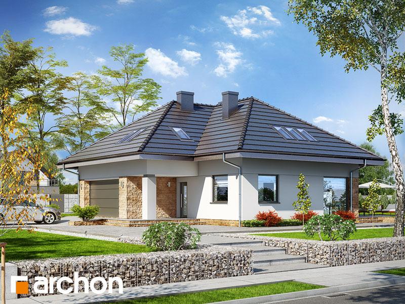 Проект будинку ARCHON+ Будинок в тавулах (Г2) додаткова візуалізація