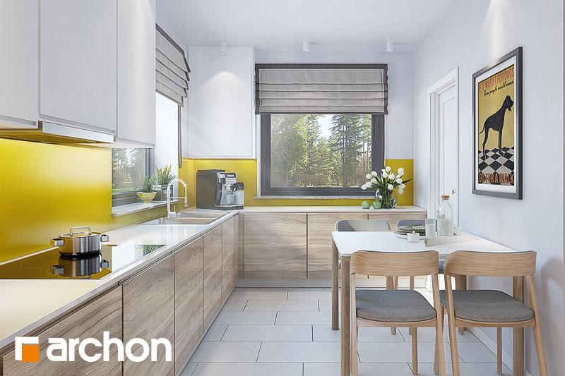 Проект будинку ARCHON+ Будинок в тавулах (Г2) візуалізація кухні 1 від 1
