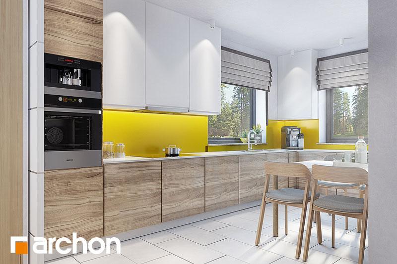 Проект будинку ARCHON+ Будинок в тавулах (Г2) візуалізація кухні 1 від 2