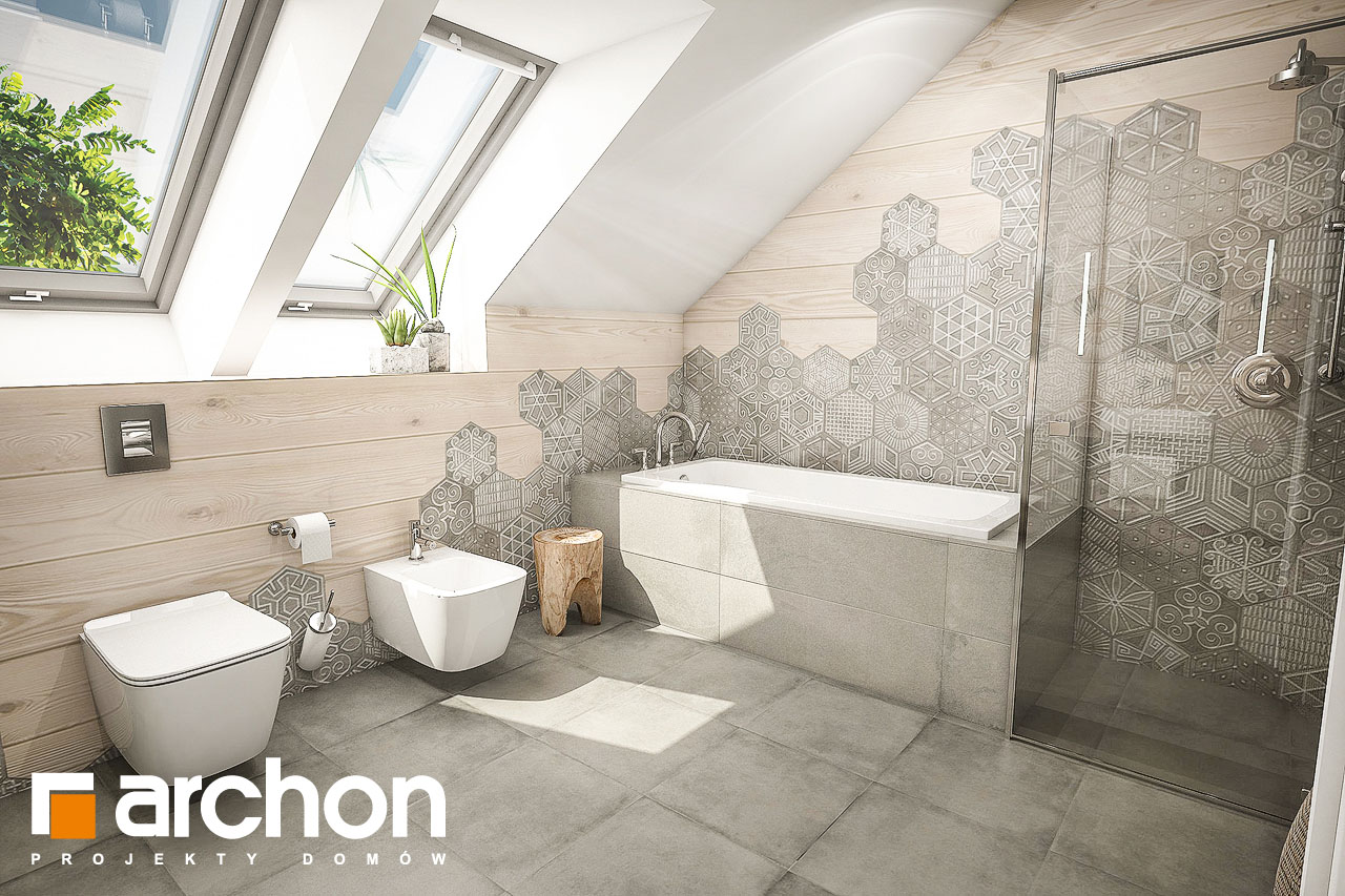 Проект будинку ARCHON+ Будинок в тавулах (Г2) візуалізація ванни (візуалізація 1 від 1)