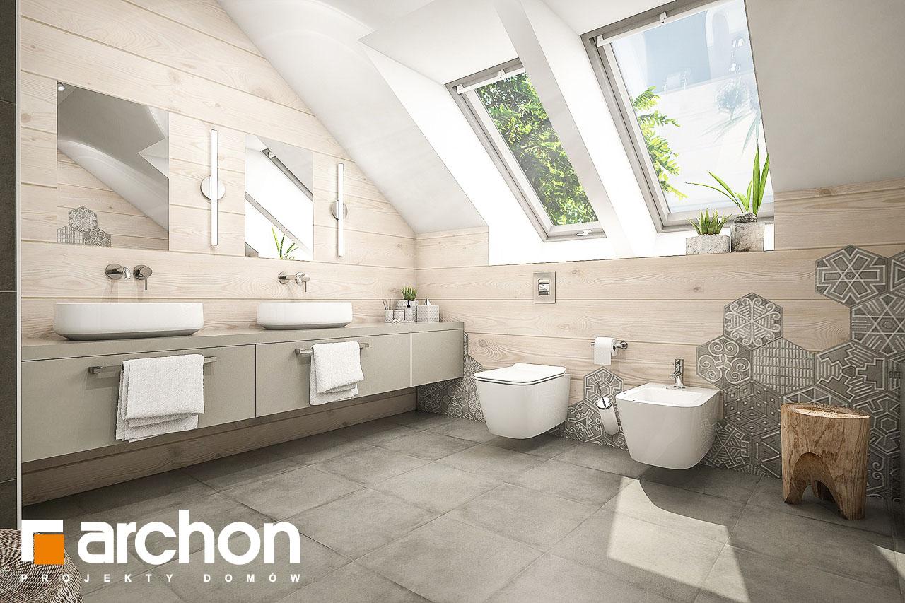Проект будинку ARCHON+ Будинок в тавулах (Г2) візуалізація ванни (візуалізація 1 від 2)