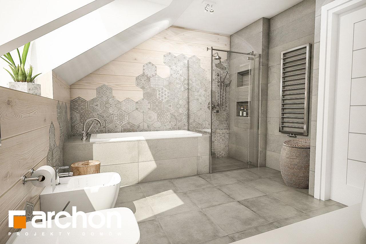 Проект будинку ARCHON+ Будинок в тавулах (Г2) візуалізація ванни (візуалізація 1 від 3)
