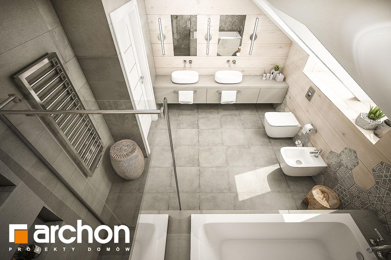 Проект будинку ARCHON+ Будинок в тавулах (Г2) візуалізація ванни (візуалізація 1 від 4)