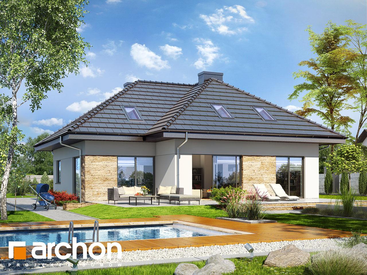 Проект будинку ARCHON+ Будинок в тавулах (Г2) Вид 2