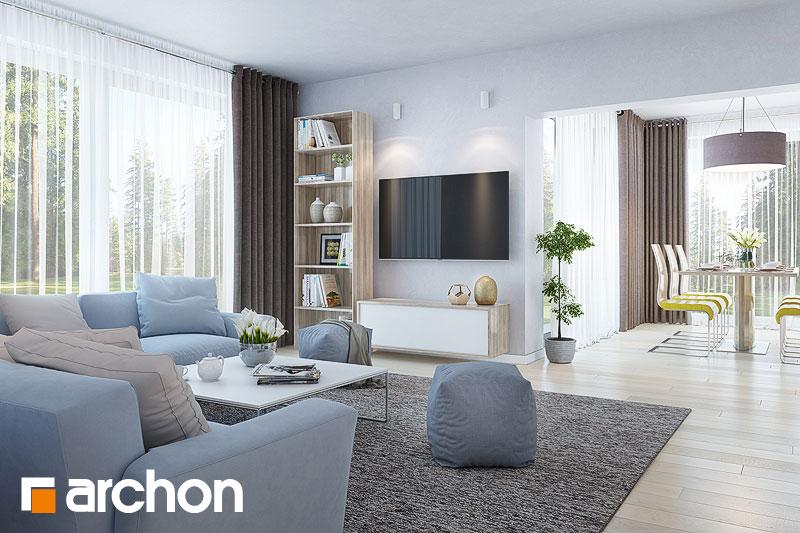 Проект будинку ARCHON+ Будинок в тавулах (Г2) денна зона (візуалізація 1 від 1)