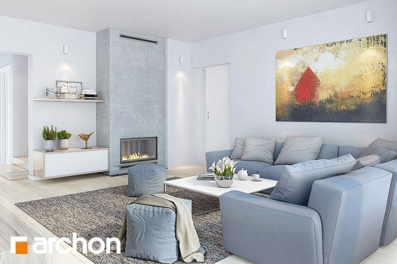 Проект будинку ARCHON+ Будинок в тавулах (Г2) денна зона (візуалізація 1 від 2)