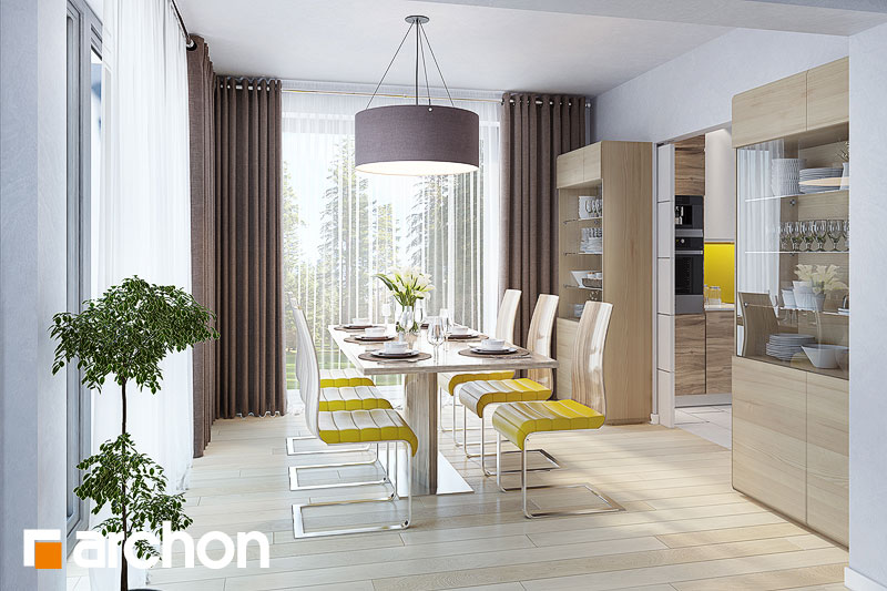 Проект будинку ARCHON+ Будинок в тавулах (Г2) денна зона (візуалізація 1 від 4)