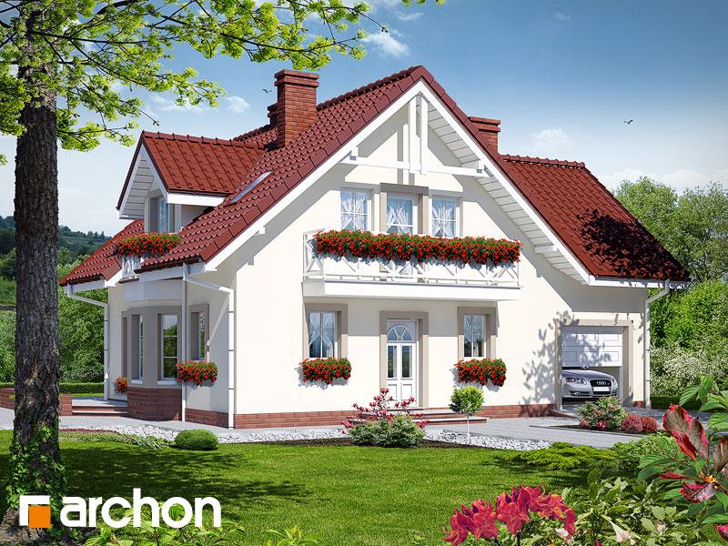Проект будинку ARCHON+ Будинок в рододендронах 2 TERMO вер.2 Вид 1