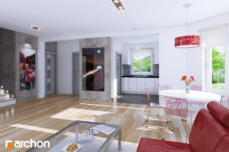 Проект будинку ARCHON+ Будинок в рододендронах 2 TERMO денна зона (візуалізація 1 від 1)