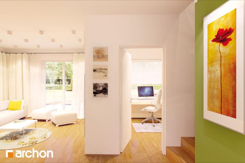 Проект будинку ARCHON+ Будинок в рододендронах 2 TERMO вер.2 денна зона (візуалізація 2 від 2)