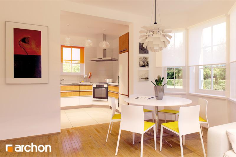 Проект будинку ARCHON+ Будинок в рододендронах 2 TERMO денна зона (візуалізація 2 від 1)