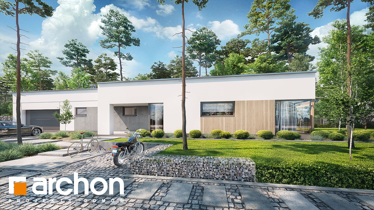 Проект будинку ARCHON+ Будинок в хурмах 2 Вид 2